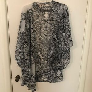 Forever 21   Black & White Kimono Size M/L